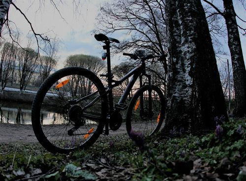 А как у вас с рулежкой на велосипеде?