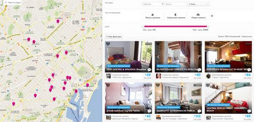 Airbnb и rentalia — аренда жилья от владельцев