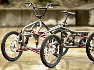 Четырехколесный взрослый велосипед