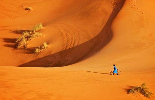 Как правильно ехать на велосипеде по песку