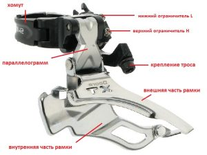 Как правильно выбрать передний переключатель скоростей велосипеда, устройство и принцип действия