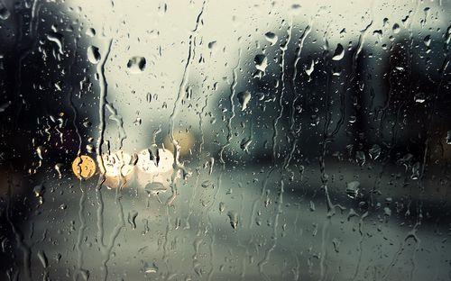 Катим на велосипеде в дождь