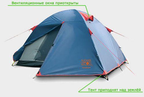 Конденсат внутри палатки