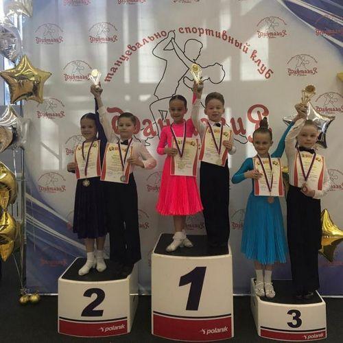 Маленькие танцоры клуба прибой завоевали награды городского турнира