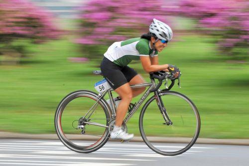 Местоположение велосипедиста на дороге