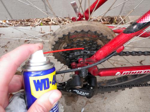 Можно ли смазывать велосипедную цепь wd40