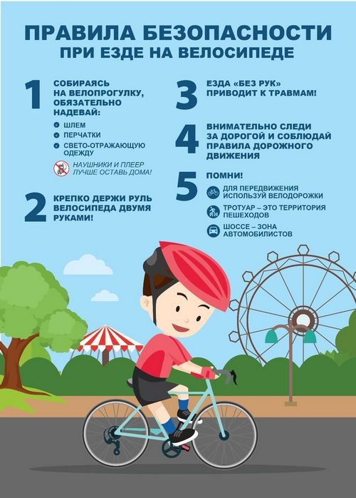 Основные правила безопасности для велосипедистов