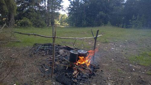 Первая ночёвка в лесу