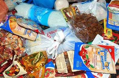 Подготовка и раскладка продуктов для похода
