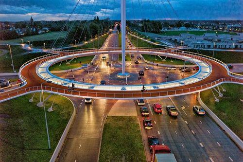 Подвесной велосипедный мост в голландии — вот наше будущее