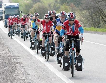 Правила движения велосипедистов в колонне