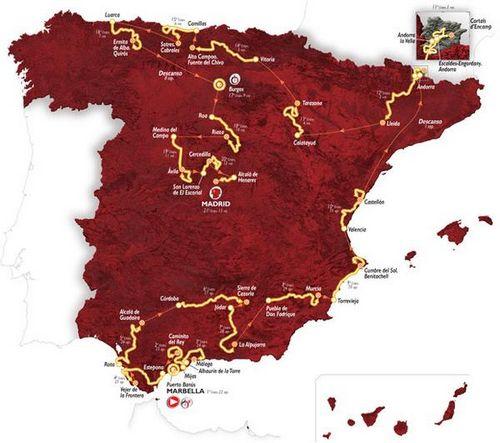 Презентация маршрута вуэльты испании 2015