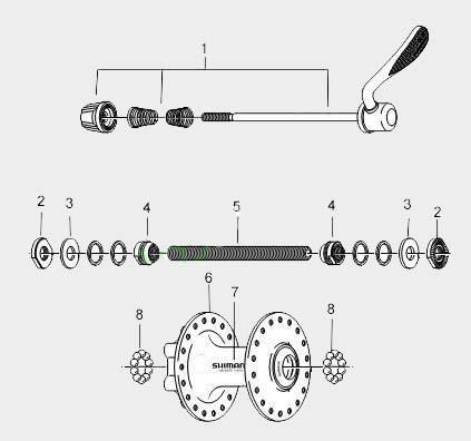 Ремонт передней втулки велосипеда