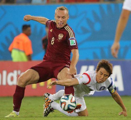 Сборная россии сыграла вничью с кореей на чемпионате мира по футболу