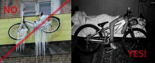 Советы по хранению велосипеда зимой