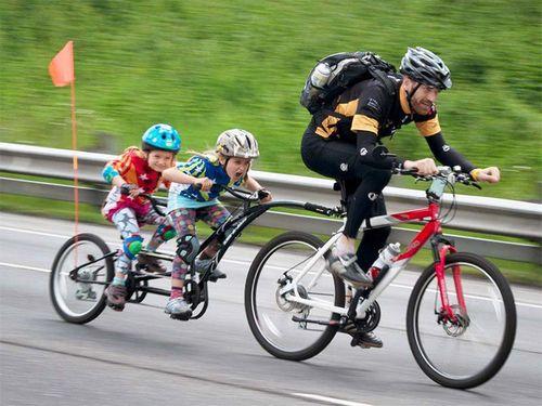 Способы перевозки детей на велосипеде