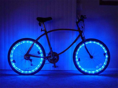 Светодиодная подсветка колёс велосипеда своими руками