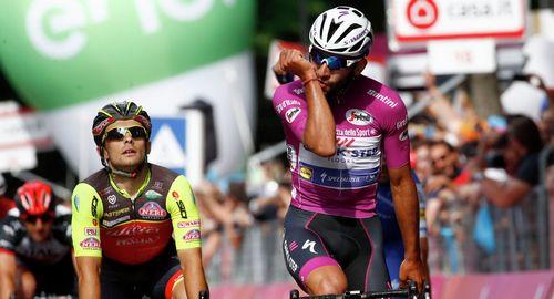 Том дюмулен - победитель десятого этапа джиро д'италия 2017'италия 2017 'италия 2017