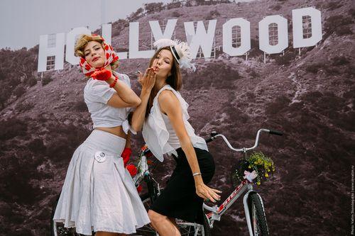 В москве прошел женский вело парад «леди на велосипеде»